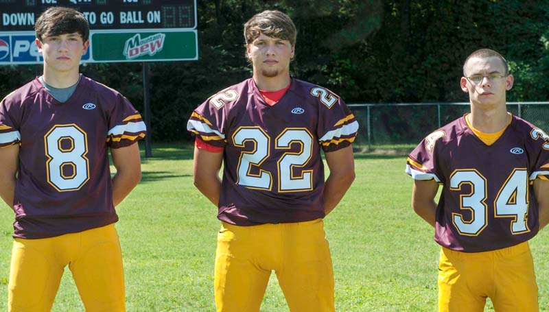 DAILY LEADER / MARTY ALBRIGHT / SENIOR JACKETS - Representing the Enterprise Yellow Jackets in the 2014 seniors class are (from left) Austin Coleman, Layne Brown and Garrett Lofton. The Jackets battle the Bogue Chitto Bobcats at Troy Smith Field tonight starting at 7 p.m.