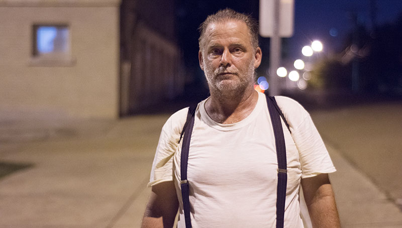 DAILY LEADER / KATIE WILLIAMSON / Lincoln County native Tim spends his time wandering the streets of downtown Jackson between finding a place to sleep at night, catching some air-conditioning at the library or lining up at the soup kitchen.