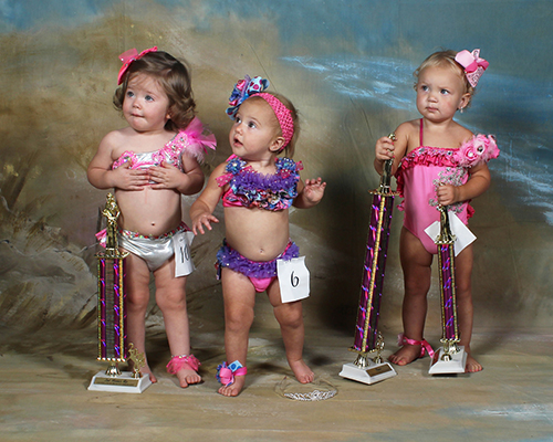 One year old winners were Britton Rae Martin, first place,  daughter of Nathan and Deanna Martin; Ryleigh Kate Givens, second place, daughter of Christian and Joshua Givens; and Haylen Denise Yawn, third place, daughter of Drew and Haley Yawn.