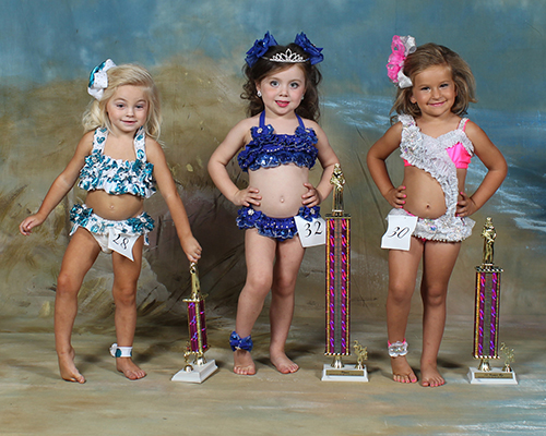 Three year old winners were Milly Ann Grice, first place, daughter of Chris and Kelly Grice; Brooke Marie Watts, second place, daughter of Steven and Laina Watts; and Baylee Marie Nations, third place, daughter of Josh and Ashley Nations.
