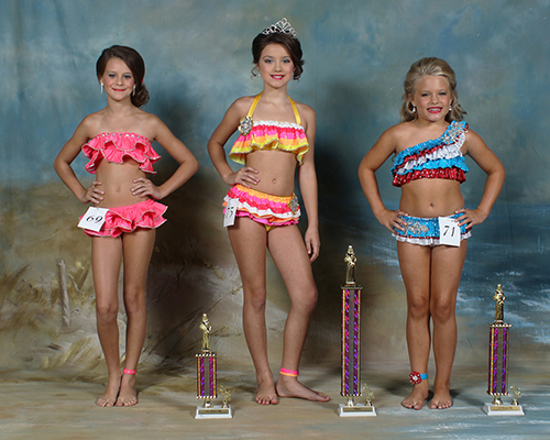 Nine to 10 year old winners were Wednesday Abigale Warren, first place, daughter of Emily Warren and Jason and Lana Warren; Alli Claire Ferguson, second place, daughter of Seth Ferguson and Jennifer Case; and Ashlyn Marie Bland, third place daughter of Brandi Michiels and Jason Bland.
