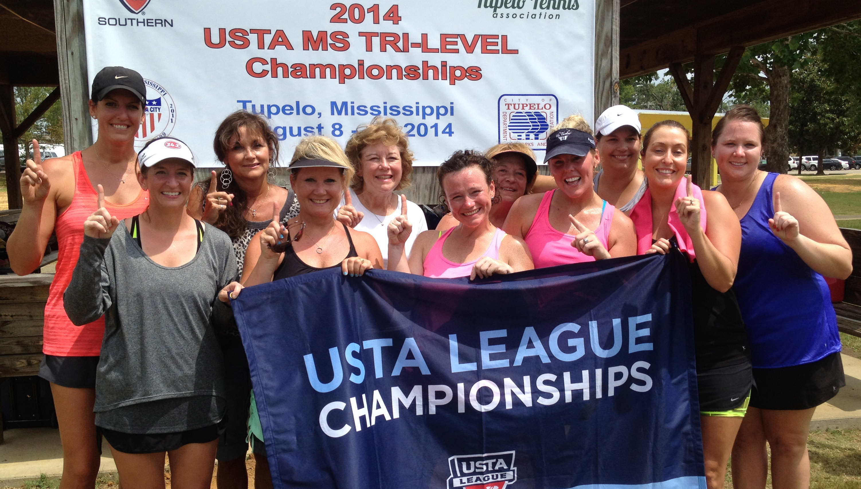 The Brookhill Tennis Club consists of (from left):Heather Watts, Mary Helen Miller, Angela Taylor, Beth Evans, Celeste Carty, Kasey Hutson, Poozie Swink, Lindsey Robinson, Kelly Calcote, Deanna Howington, Anna Johnson.  Team members not pictured are Carolyn Stephens, Courtney Watts, and Katie Hall.
