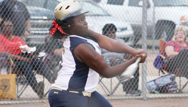 DAILY LEADER / MARTY ALBRIGHT / Christian Black powered her Bogue Chitto Lady Cats at the plate with a pair of three-run home runs, double and single against Brookhaven Thursday night.