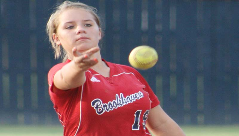 DAILY LEADER / MARTY ALBRIGHT / Brookhaven pitcher Rileigh Allen tossed a perfect game in Ole Brook's victory over Wingfield Thursday night.