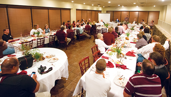 DAILY LEADER / KATIE WILLIAMSON / The Lincoln County chapter of Mississippi State University's Alumni Association gathered at Mitchell's Thursday night.