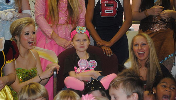 File photo Kaley Wilkerson celebrates her 7th birthday party with all of her classmates at Mamie Martin Elementary School. During her long battle with cancer, Kaley Wilkerson inspired all those around her with her perseverance and positive attitude.