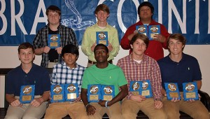 The Wesson boys' team was honored during the school's athletic banquet. Players receiving awards were (from left, seated) Seth Cone, Most Improved Player; Jose Bello, Rookie Award, All District Team; Marcus Jones,  Most Valuable Offensive, All District Team; Dylan Ingle, Most Valuable Mid Fielder, All District Most Valuable Player; Preston Middleton, Rookie Award, All District Team; (standing) Eric McElveen, Coaches Award; Justin Morgan, All District Team; and Eli Hernandez, Senior, Most Valuable Defensive Player, All District Team. (Not Pictured - Fred Arzate, Senior, Most Valuable Player, All District Most Valuable Mid Fielder; Fidel Mellado, Most Valuable Defensive, All District Team)