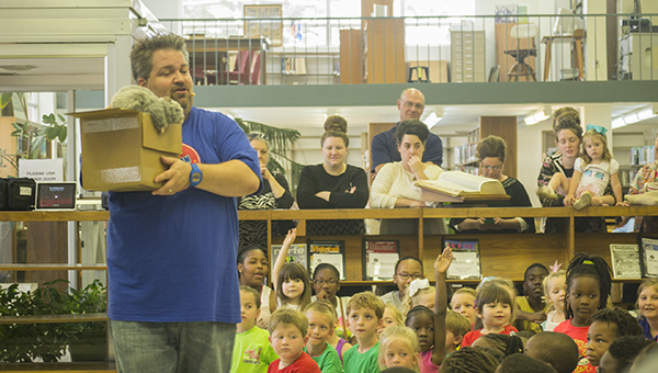 Photo by Nathaniel Weathersby Children got tricks and treats during a magic show at the Lincoln County Public Library Monday afternoon.