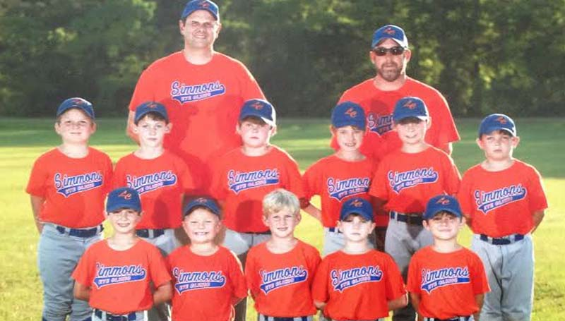 DAILY LEADER / Photo Submitted / Simmons Eye Clinic 7 and 8-year-old AA Coach-Pitch team went undefeated during the regular season and were crown the American League Champions. Members of the teams are (kneeling, from left) Luke Simmons, Teague Russell, Eli Thornton, Mark Gill, John Marbury; (middle row) Brody Banks, David Williams, Cole Spencer, Jackson Wallace, Pierce Whittington, Griffin Smith; (back row) Assistant Coach Dr. Worth Simmons and Head Coach David Smith. Not pictured Assistant Coach Rusty Williams.