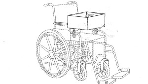 Illustration submitted Gwendolyn Smith shared drawings of her patent-pending invention, a multifunctional wheelchair basket. Smith said the vision for the invention came from the Lord when she asked for help when visiting and going about town with her 97-year-old mother-in-law.