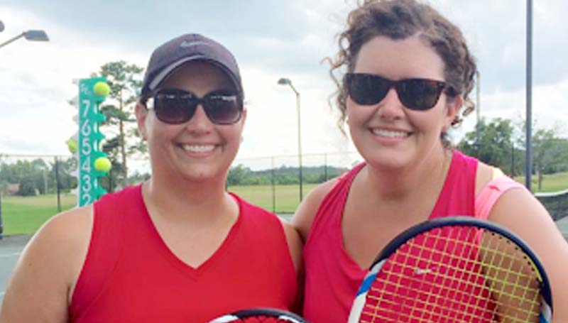 DAILY LEADER / Photo Submitted / Kelly Calcote and Sally Profitt were the team winners in the round robin tennis tournament of the Heritage Hill Classic at Brookhaven Country Club.