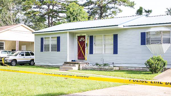 Photo by Kaitlin Mullins Bridget Hall, 43, was shot in her home (pictured above) on Vivian Merrit Street Monday night. Her death followed the death of Kelcay Humphrey, 25, Sunday night.