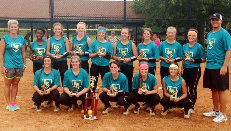 DAILY LEADER / Photo Submitted / Lawrence County's softball team captured second place in the Pensacola Softball Tournament last weekend. Members of team are Elizabeth Smith, Jordan Harp, Julianna Johnson, Amanda Rushing, Lakyn Trott, Alyssa Lambert, Tyranesha Davis, Josey Nations, Zyon Feazell, Abbie Errington, Sydney Pevey, Callie Fortenberry and Raylee Ready. The coaches are Meleah Howard and Marc Howard.