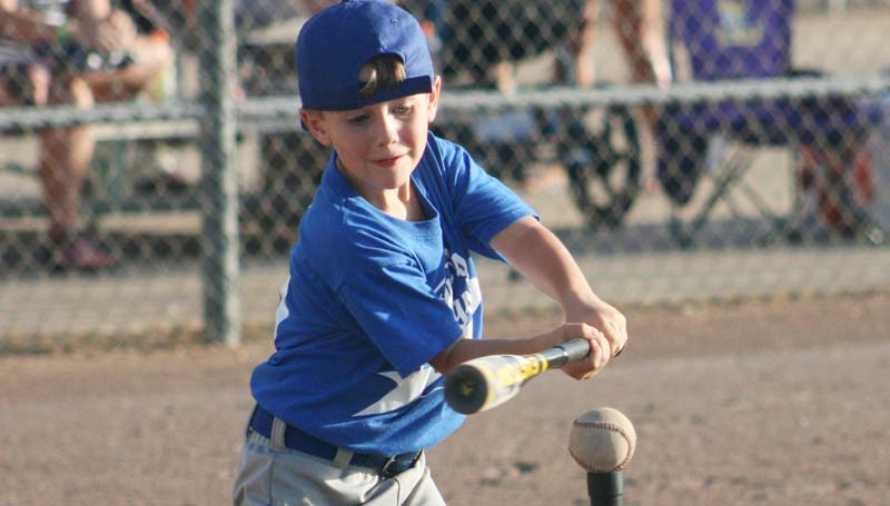 DAILY LEADER / Caden Lee playing for LaRue Drugs.