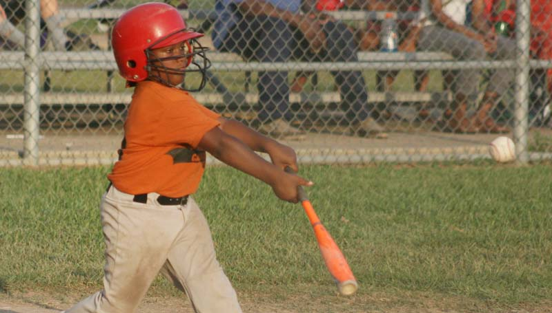 DAILY LEADER / Aiden Humphrey collects a hit for Smith 84E Carwash.