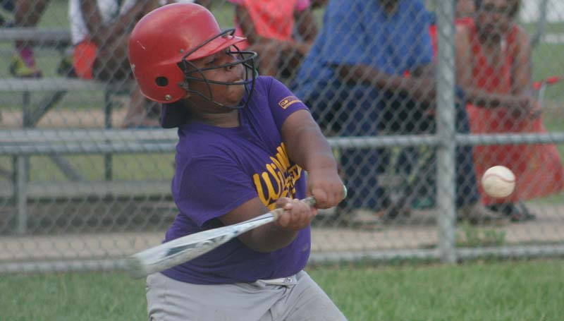 DAILY LEADER / Adrian Byrd collects a hit for William Mortuary.