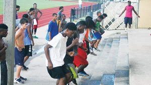Brookhaven players works on the agility skills while running the steps. The Panthers will begin practice Aug. 3. Brookhaven's season kick off Aug. 21 in Meadville against the Franklin County Bulldogs.