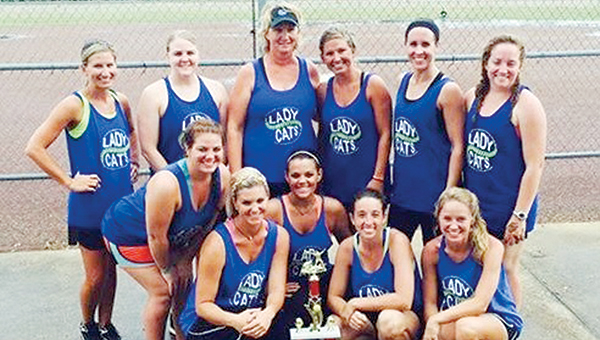 Photo Submitted The Bogue Chitto Alumni softball team captured first place in the Ole Brook Alumni softball tournament at Hansel King Sportsplex. Members of the team are (from left, first row) Bradi Davis, Bessie Davis, Meleah Howard, Brynna Dowling, Marley Porter, Adrienne Wallace; (back row) Christi Terrell,  Chelsey Anderson, Becky Flowers, Candace Avants, Jessica Melton and Josie Porter.