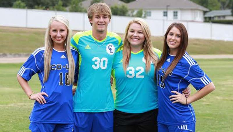 CO-LIN MEDIA / JOHNNY SMITH / Lincoln County natives playing soccer for Co-Lin in 2015 include (L-R): Madison Johnson, Hayden Brownlee, Destiny Allen, and Mallory Holden.