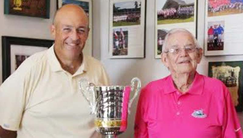 DAILY LEADER / Photo Submitted / Mr. Ed Norwood (left) proudly host the sixth annual Norwood Cup this weekend as the top 20 players from the Wolf Hollow Golf Club and the Brookhaven Country Club are ready to battle.