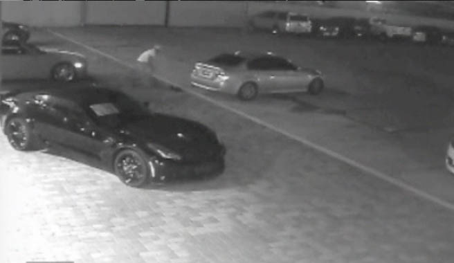 A still image captured from surveillance video.