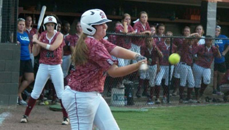 Daily Leader / Jana Harp / Lawrence County's Jordan Harp finishes three of four at the plate against North Pike Tuesday night.