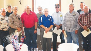Photo by Aaron Paden Vietnam veterans were honored during a luncheon Tuesday at Pleasant Hill Baptist Church. These men were given the opportunity to share their stories about what it was like to serve in Vietnam. The commemoration was hosted by the Chloe Holt chapter of Daughters of the American Revolution.