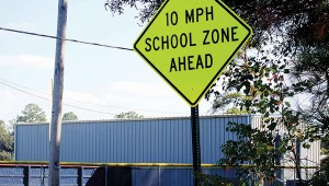 Photo by Aaron Paden The City of Brookhaven installed new signs near Mamie Martin after police officers voiced concerns over safety.