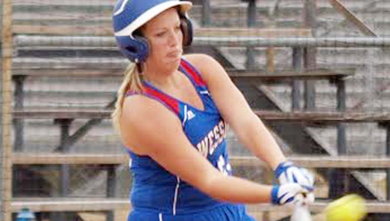 Daily Leader / Tracy Fischer / Wesson Kaitlyn Smith provides a big hit in Saturday's victory over the Crystal Spring Lady Tigers.