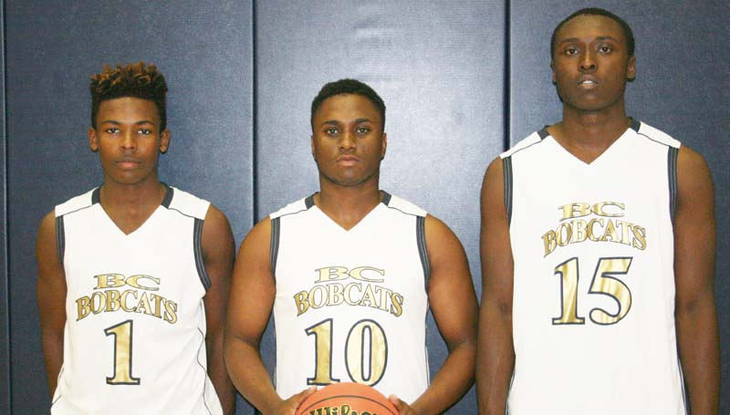 Daily Leader / Marty Albright / Bogue Chitto seniors (from left) D.J Nunnery, Tyler Brumfield and Brandon Blackwell are anxious to start their 2015-16 basketball season.