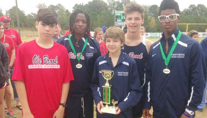 Daily Leader / photo submitted / The Brookhaven cross country boys team finished second in West Lincoln's Invitational Saturday.
