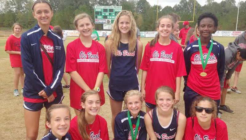Daily Leader / photo submitted / The Brookhaven Lady Panthers cross country team won West Lincoln's Invitational Saturday.