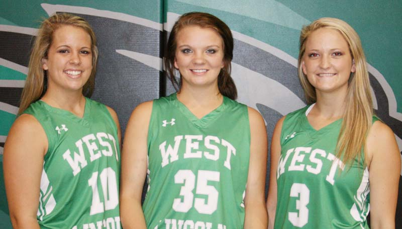 Daily Leader / Marty Albright  / The Lady Bears will look to seniors (from left) Layton Sills, Hanna Moak and Alli Mullins for guidance in 2015-16 season.