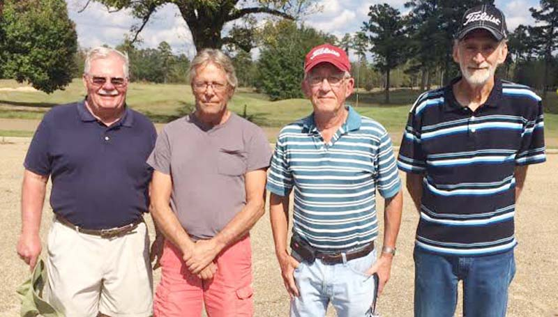 Daily Leader / photo submitted / Craig Crozier, Kenny Thornhill, Dick Arnold, and Mike Allen won the Brookhaven Country Club Senior Scramble Thursday with a score of 9 under par 61.  Kenny Thornhill won closest to the pin on holes No. 4 and No. 12, Dick Arnold won No. 8, and Jerry Harper won No. 17.