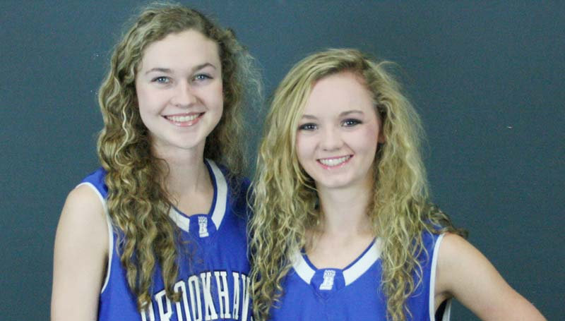 Daily Leader / Marty Albright / Seniors playing basketball for the Brookhaven Academy Lady Cougars are (from left) Edie Riley and Leah Case.
