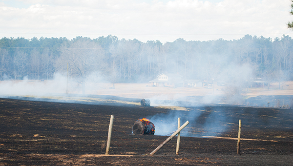 File photo Recent drought conditions, strong winds and low humidity have meant disaster for those who disregard the burn ban. Surrounding counties have lost hundreds of acres over the past several days when fires could not be controlled.