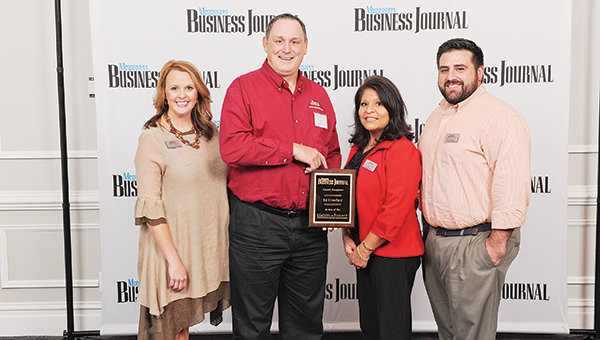 From left: Jessica Breazeale, marketing/PR director; Ed Crawford, CFO; Josie Alford, human resources manager; and Carlos Garcia, finance manager.