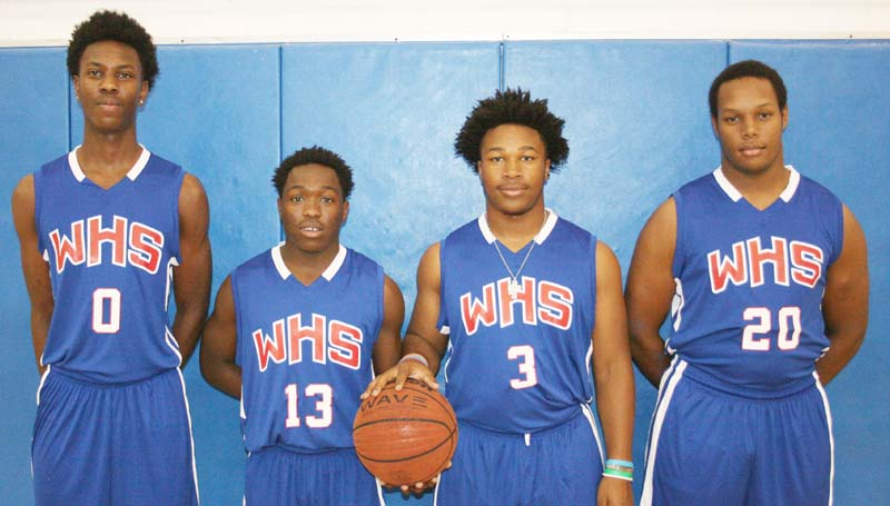 Daily Leader / Marty Albright / Representing the Wesson Cobras in the 2015-16 basketball season are seniors (from left) Anthony Jones, Cornelius Barlow, Jamarcus Patterson and Kendrick Brown.
