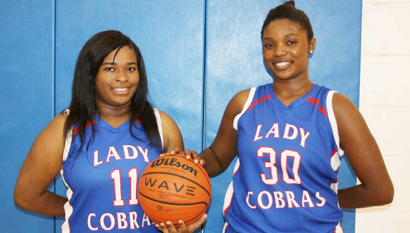 Daily Leader / Marty Albright / Wesson Lady Cobras seniors (from left) Carnesha Green and Jashia Smith.