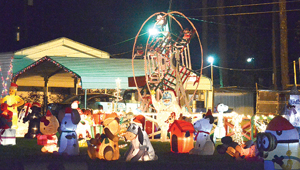 Photo by Luke Horton Several homes on Old Red Star Drive are already decorated for the Christmas season. Thousands of lights, dozens of inflatables and other displays can be seen at the stretch of homes just north of Mt. Zion Road.