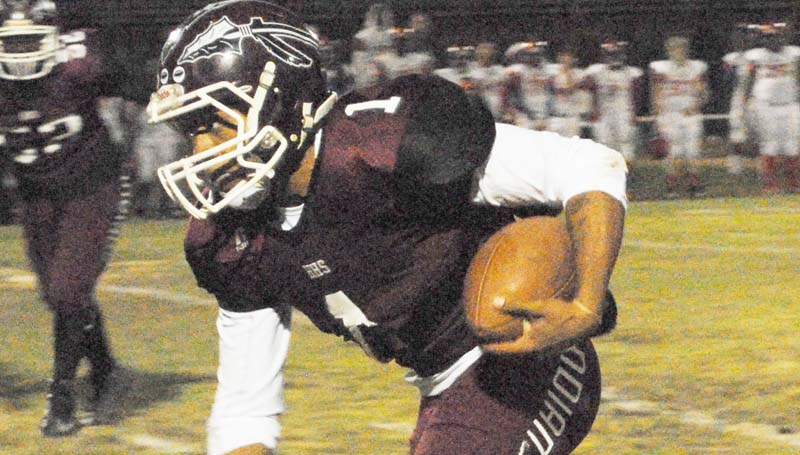 Daily Leader / Marty Albtight / Hazlehurst senior quarterback Ladarrious Williams (1) and the rest of the Indians will visit Foxworth Friday to battle the West Marion Trojans. Kick off is at 7 p.m.