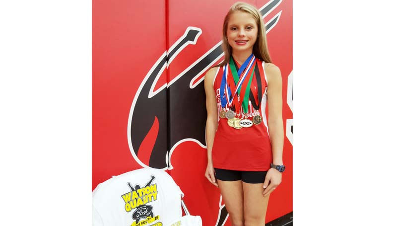 Daily Leader / Photo submitted / Loyd Star's Abby Thomas has received many accolades in the sport she loves. Only in her sophomore year, the future is very bright for this young lady as she trains for her junior year.