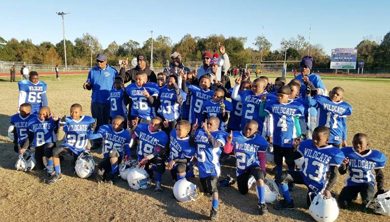 Daily Leader / Photo Submitted / Members of the Brookhaven Southern Wildcats 8-under team are: Jordyn Kees, Javarius Nelson, Adavion Herring, Durrell Washington, Cearic Walker, Ladamion Owens, Taiwan Dixon, Jasmine Robertson, Zakobi Washington, Seth Butler, Amon Herring, Calijah Drake, James McCullough, Cedric Sanders, Demiri Smith, Dariuntae Owens, Da'Sean Ard, Benton Turner, Daylon Barton, Devion Brown, Patrick Joiner, Timothy Smith, Jevarius Dickey, Jordan Dixon, Je'Erion Smith, Kievon Brown, Marcus Henderson, Abiy Demeke, Kemari Brown, LaJavion Nelson, Markel Smith, Zachary Moore, Fabion Washington II, not pictured Adreon Byrd, assistant coaches: Vincent Brown, Kenny Smith, Durrell Washingtono, Terrell Barden, Kris Coleman and head coach Frank Collins.