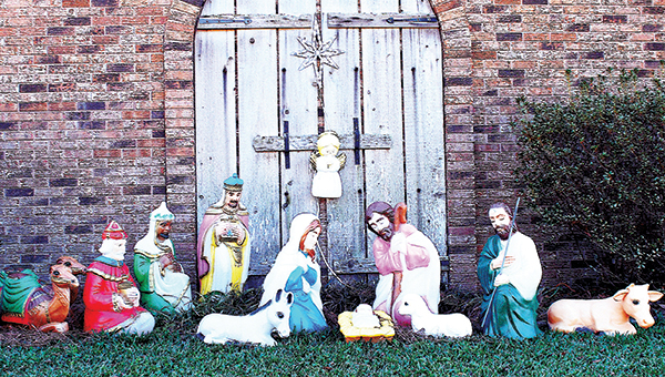 Photo by Aaron Paden / Juanita Hamill has celebrated Christmas for 15 years by displaying a nativity scene.