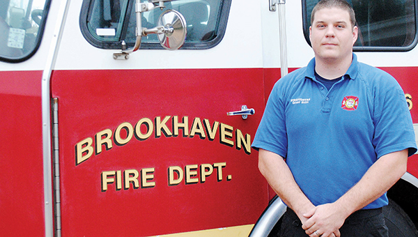 Photo by Aaron Paden / Grant Britt helps the community by building a career at the Brookhaven Fire Department.