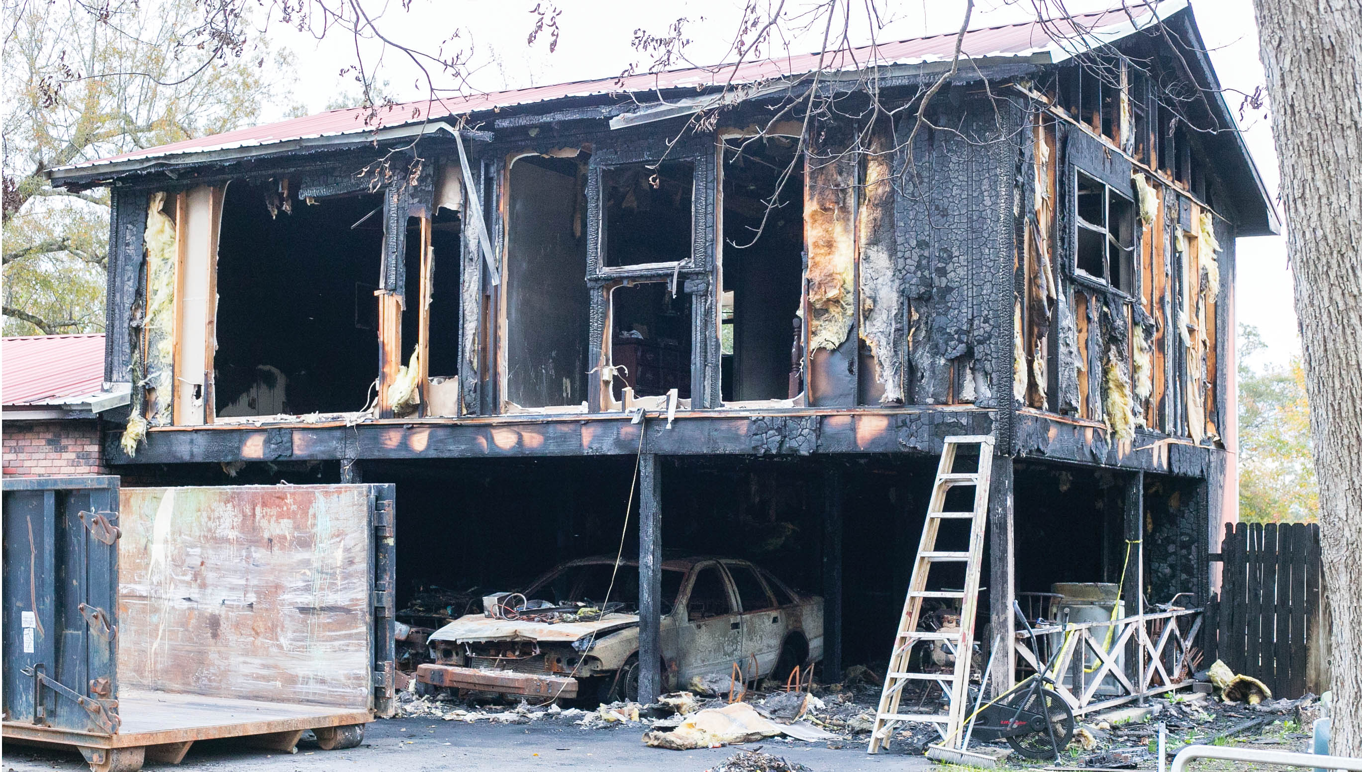 The house fire at 707 E. Independence St. on Nov. 2 was determined to be an act of arson by the State Fire Marshal. The home is that of Moses Bell, Jr., the grandfather of Cordarryl Bell. Bell is the suspect in a murder and shooting on the same day.