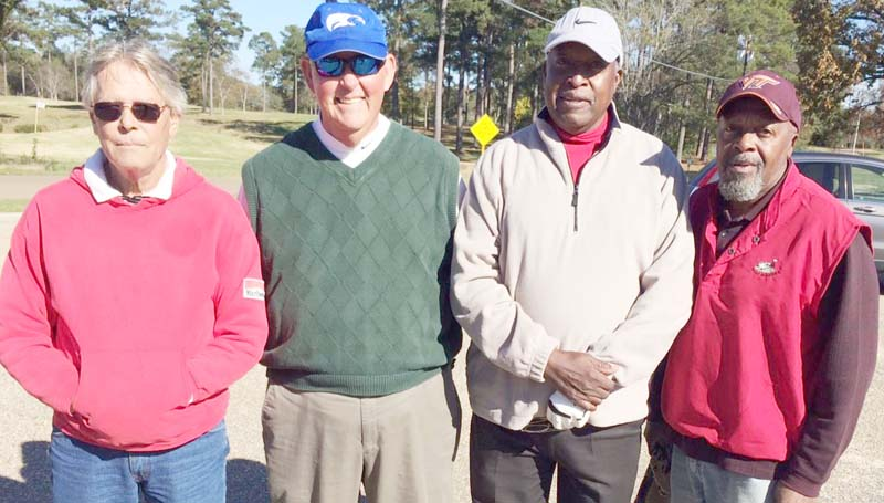 Daily Leader / photo submitted / In Thursday's senior scramble at the Brookhaven Country Club, the team of (from left) Kenny Thornhill, Eddie Ashley, Curtis Barnes, and Jerry Handy won first place with a score of 13 under par 57.