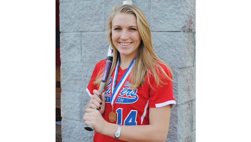 Daily Leader / Marty Albright / Parklane Academy softball senior Taylor Murray is all smiles as she poses for a photo with her state championship medallion.