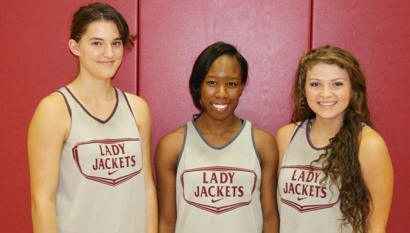 Daily Leader / MARTY ALBRIGHT / Juniors Michele Herrington, Alissa Barlow and Courtney Greer led the Lady Jackets in scoring Friday night against Pisgah.