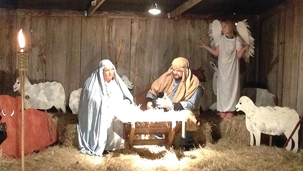 Photo by Luke Horton/ New Sight Baptist Church's live nativity attracted hundreds to the rural church Sunday night. The annual event uses live actors and some live animals to tell the story of the birth of Jesus.